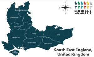 map of south east of england