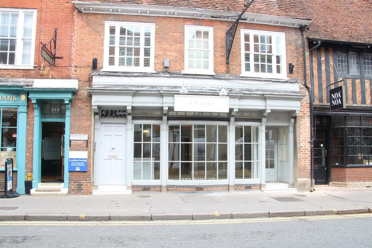 Prime retail property in Farnham let to Ruby Jones Home